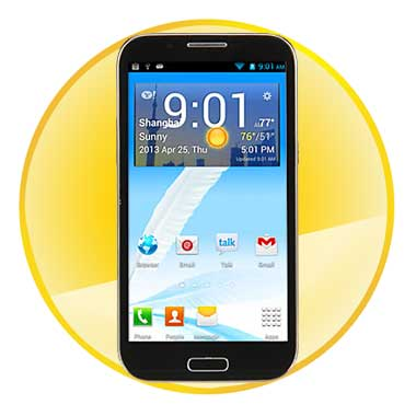 5.3inch Capacitive Touch Screen Android 4.2 Smart Phone with   MTK6589 Quad Core CPU