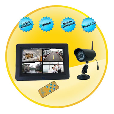 2.4Ghz 7 Inch LCD Wireless Baby Monitor with Motion Detection