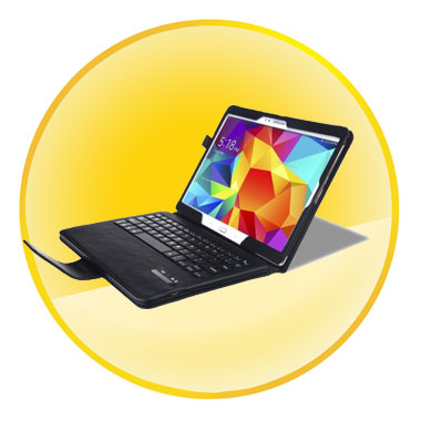 Detachable Bluetooth Keyboard + Leather Stand Case for Samsung Galaxy Tab S 10.5-inch T800 T805