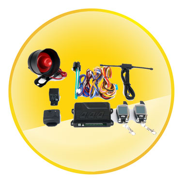 DC 12V Two Way Car Vehicle  Alarm Security System with Siren