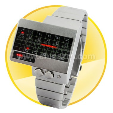 Alpha Centauri - All Metal Red LED Watch