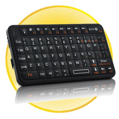 Ultra Compact Mini Bluetooth Keyboard for PS3, i-Pad, Android, and More