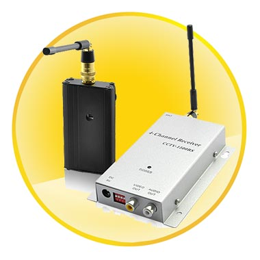 Wireless Signal Booster and Receiver Kit for Security or Spy Camera (1500 meters, 1.2 GHz)