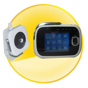 2.4Ghz Portable Mini H.264 DVR Baby Monitor with 3.2 inch Screen