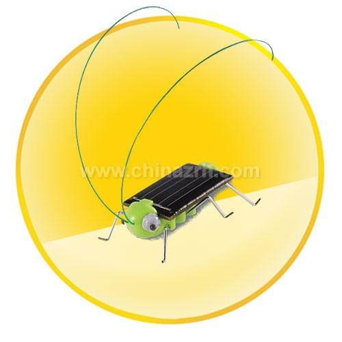 Cute Solar Powered Grasshopper Robot Kit