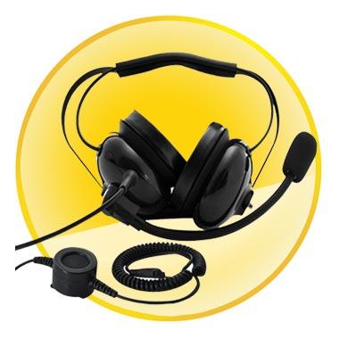 Heavy Duty Noise Reduction Headset for Motorola Walkie Talkies