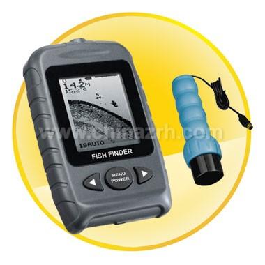 Portable Dot Matrix Fish Finder-Handheld Transducer