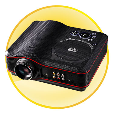 Home Theater Portable DVD Player Projector with Joystick