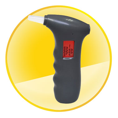 Personal Digital Display Breath Alcohol Tester with Red Backlight