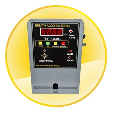 Coin-Operated Alcohol Tester with Digital Display