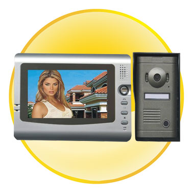 7.0 inch TFT Screen Color Monitor Wired Video Doorphone