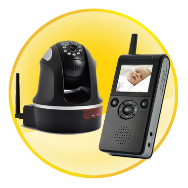 Wireless Baby Monitor with Night vision+ Point-to-Zoom Function & 300 Meter Range
