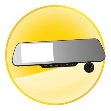 5 Inch Car Rear View Mirror and Car DVR