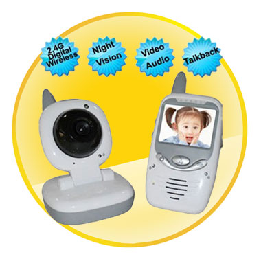 2.4Ghz Digital Video Baby Monitor with Talk-to-Baby Intercom