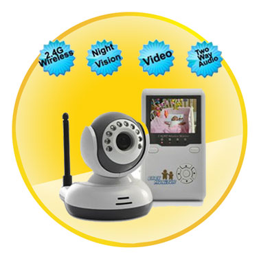 Wireless 2.4 Inch Baby Monitor With Two Way Audio and Night Vision
