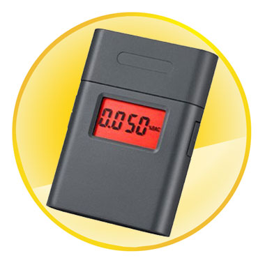 Professional Mouthpiece Breathalyzer with Red Backlight