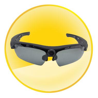 170 Degrees Wide Angle Lens HD 720P Sunglasses Camera