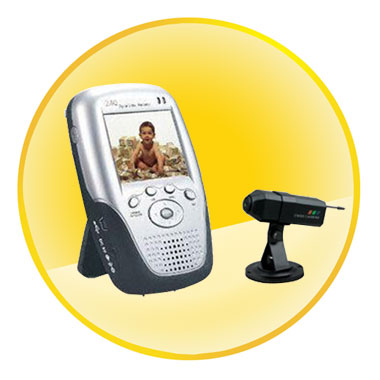 2.4GHz Wireless Baby Monitor with 2.5 Inch LCD and CMOS Color Camera