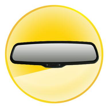Rear View Mirror Waterproof Quad Band GPS Car Tracker