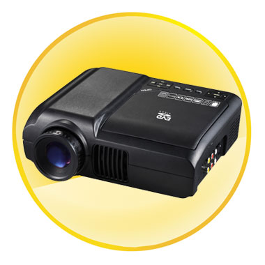 2.0 inch Home Theater Portable DVD Projector