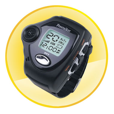 Multi Frequency Watch Walkie Talkie with Backgroud Light (A Pair)