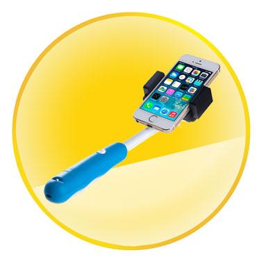 Wireless Extendable Self Portrait Selfie Handheld Stick Monopod for Mobile Phone