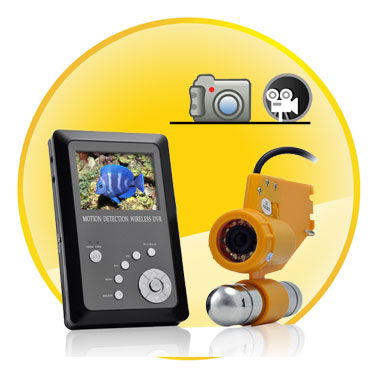 Wireless CCD Underwater Cam With Video Recorder-PAL