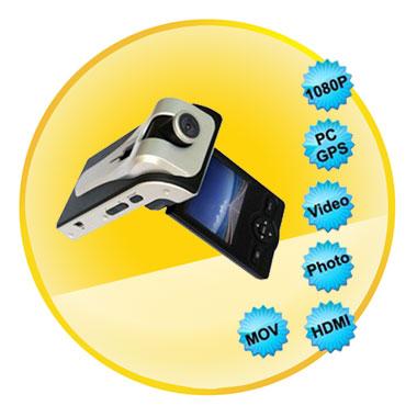 1080P 2.36 Inch Car Black Box Car DVR Motion Detection With GPS