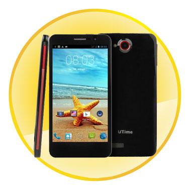 Utime Fx 4GB Quad Core Black 5.0 Inch 3G Android 4.2 Smart Phone