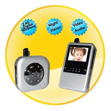 2.5 inch 2.4GHz Digital Video Baby Monitor Night Vision