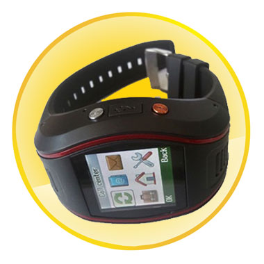Quad-band SMS & GPRS Real-time Tracking GPS Watch