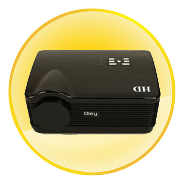HD 1080P Wifi Projector with LED Lamp Low Noise