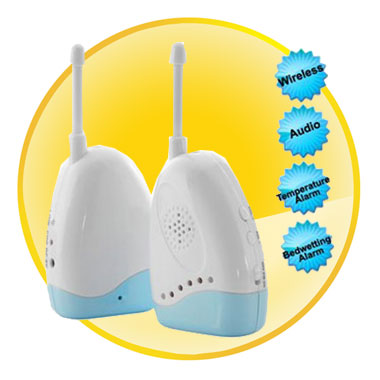 Wireless Audio Portable Baby Monitor With Temperature Bedwetting Alarm