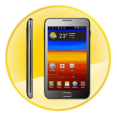 5.2Inch Android4.0.3 OS Dual SIM Capacitive Cellphone with 3G, WIFI