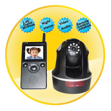 2.4GHz 2.36 inch TFT-LCD Digital Video Baby Monitor with Sound Activation