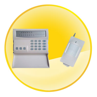 8 Zones Wireless & Wired Burglar Alarm