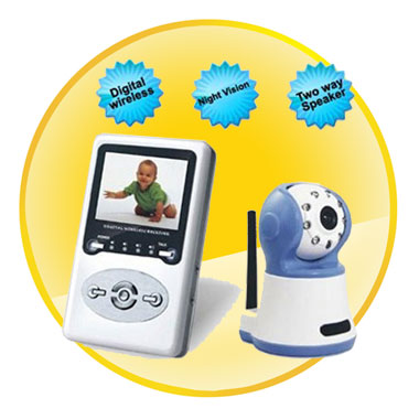 2.4 Inch LCD Digital Baby Monitor with Night Vision