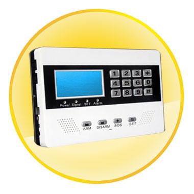 LCD Screen Display GSM Alarm Panel