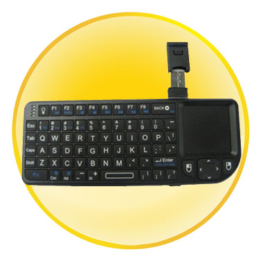 Real Qwerty and Backlight Function Mini Handheld Keyboard