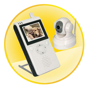 2.5 Inch LCD Wireless Baby Monitor with Pan and Tilt Control