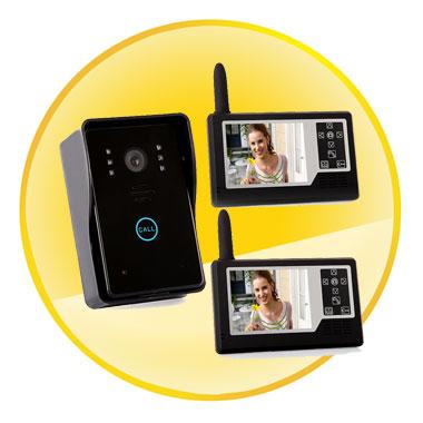 3.5 inch TFT Waterproof Wireless Video Door Phone Doorbell With IR Camera
