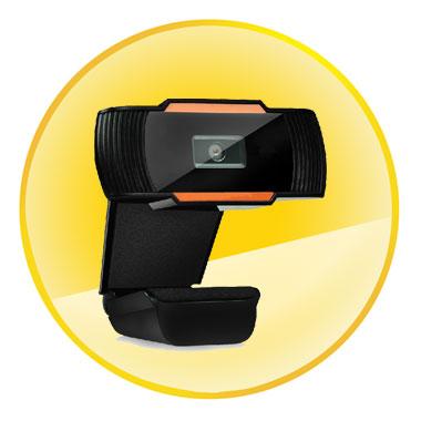 Webcam with CMOS Image Sensor Superior Quality Glass Lens