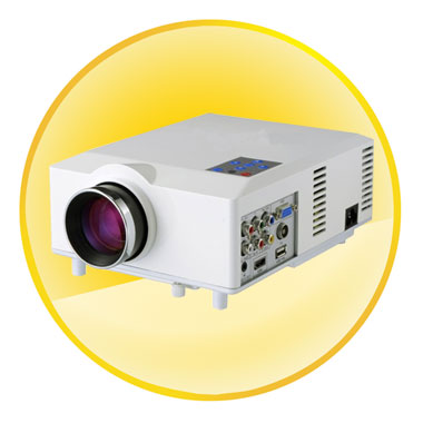 3.5 inch LCD TFT Display 1500 Lumen Portable LED Projector